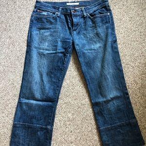 Joes wide leg cropped jean